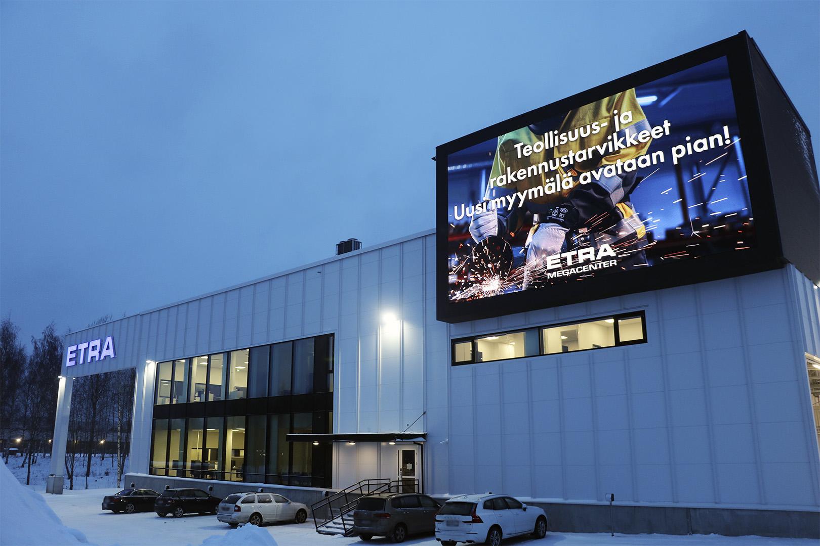 LED Näyttö Etra Megancenter Pirkkala
